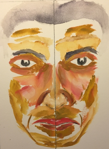 Watercolor: Portrait of Mike as He Should Have Been