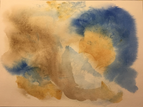 Watercolor: Another Layer on Blotting Exercise