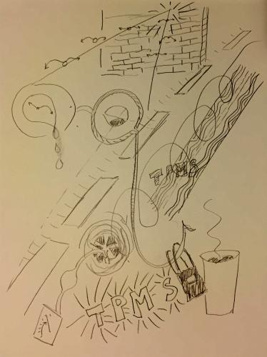 Pencil Sketch: Trip Diary