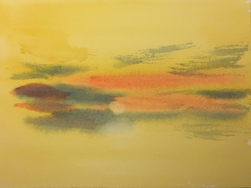 Watercolor: After a Turner Composition