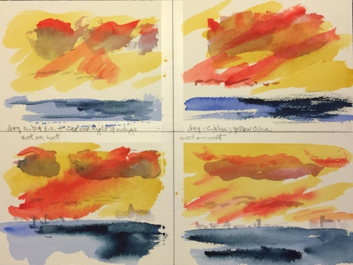 Watercolor: 4 Turner Sunsets