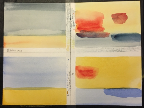 Watercolor Chart: Warm and Cool Color Washes