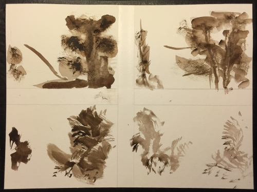 Watercolor Chart: Four Small Compositions Inspired by Corot