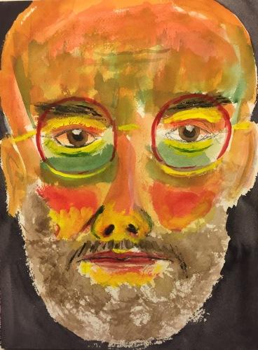 Watercolor: Self Portrait - Whole Page
