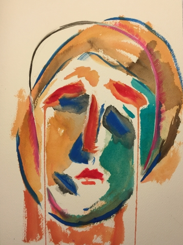 Watercolor: Abstract Expressionistic Portrait(s)