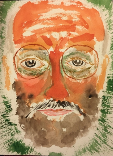 Watercolor: Self Portrait - Full Face