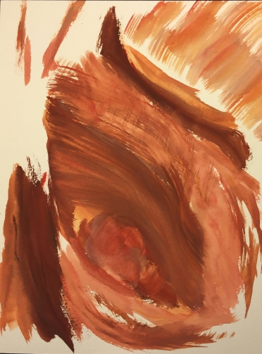 Watercolor: Abstract - Face Detail, Eye and Nose