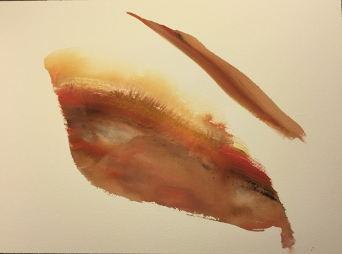 Watercolor: Abstract - Eye Spot with Brow