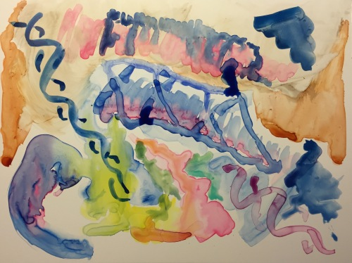 Watercolor on New Plastic Paper