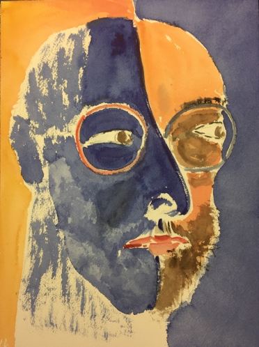 Watercolor: Self Portrait 3/4 Full Face