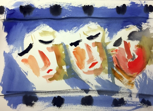 Watercolor: Abstract Expressionistic Rendition of Time