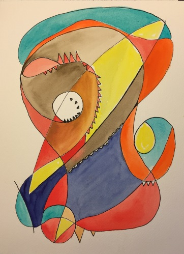 Watercolor: Abstract - Bird of Paradise