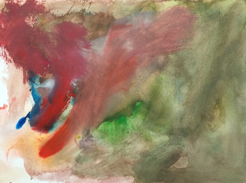 Watercolor: Abstract by Grandson