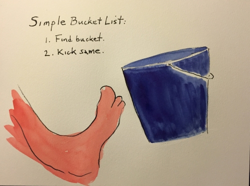 Watercolor: Bucket List Cartoon