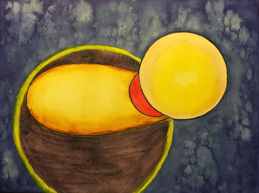 Watercolor: Abstract with Circles