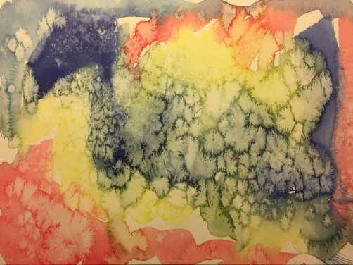 Watercolor: Abstract with Salt