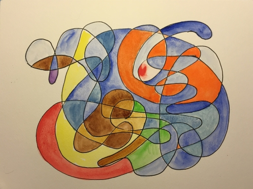 Watercolor: Abstract as Camouflage