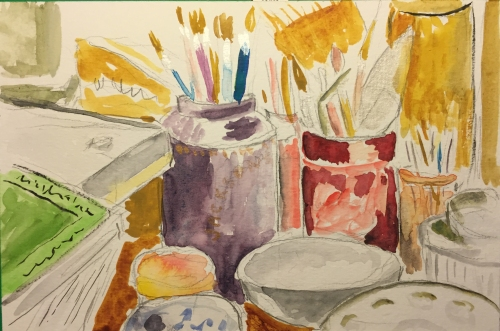Watercolor: Paint Brushes and Holders
