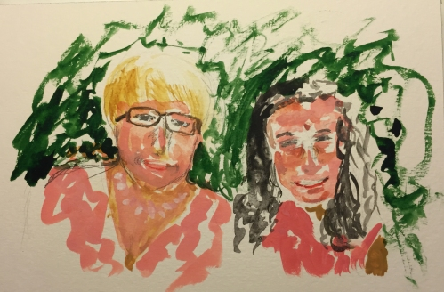 Watercolor: Dual Portraits - Nanna and Granddaughter