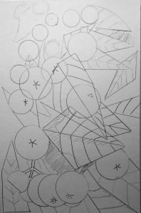 Drawing for Abstract Nespoli Watercolor Sketch