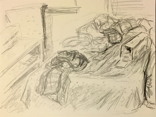 Drawing: Wrinkled Clothes - Tone Study 2