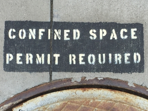 Photograph: Sign - Confined Space