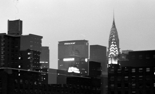 Photograph: Pan Am Building During the Day and at Night