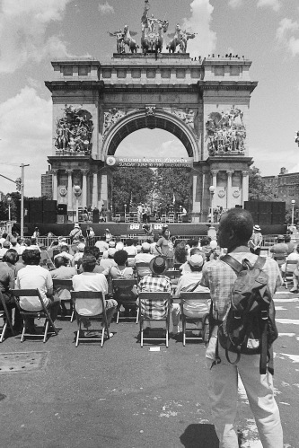 Photograph: Grand Army Plaza 1990