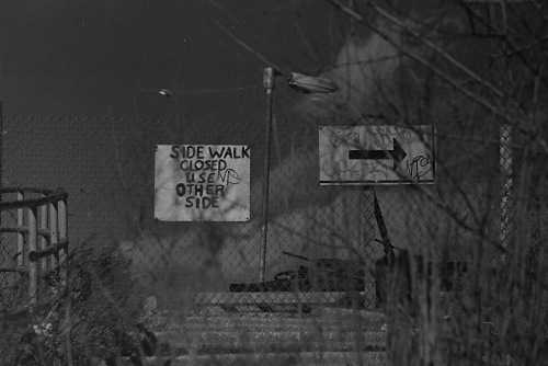 Photograph: Sidewalk Closed Signs