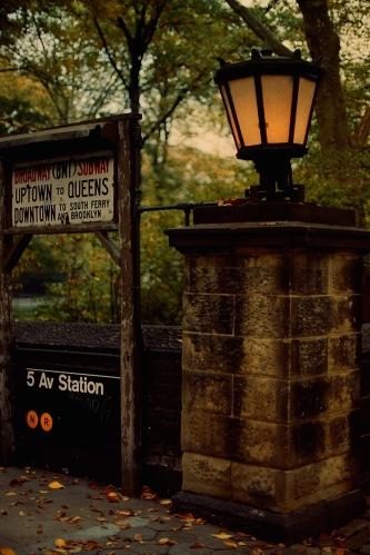Photograph: Subway Entrance, 5th Avenue on Central Park