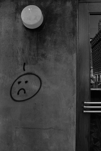 Photograph: Graffiti - Unhappy Face