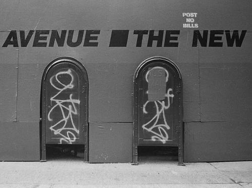 Photograph: Graffiti and Mail Boxes