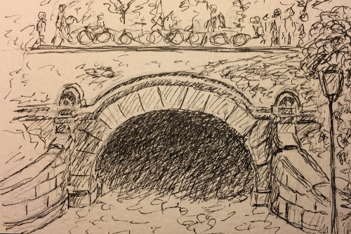 Pen and Ink: Central Park Underpass