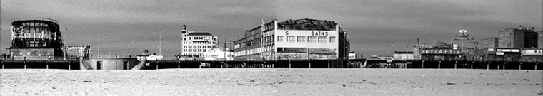 Composite Photo: Two Photos of Coney Island Boardwalk Stitched Together