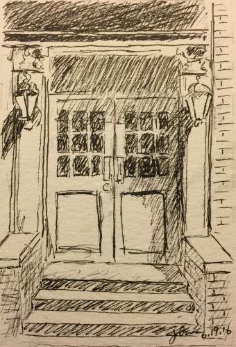 Pen and Ink : Doors and Staircase