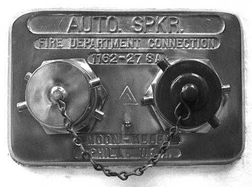 Photograph: Fire Department Connection, NYC