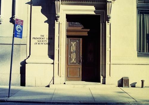 Photograph: Provident Loan Society Door