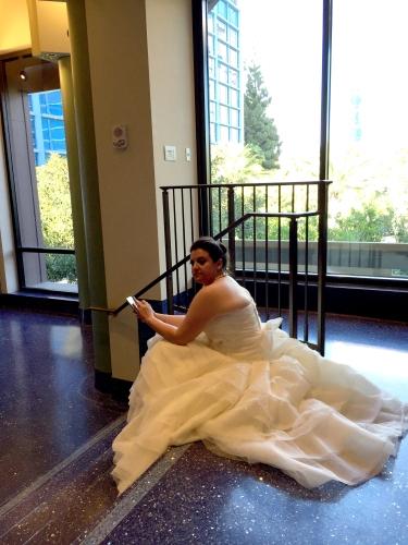Photograph: Sarah the Bride, Waiting