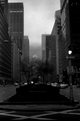 Photograph: New York City, Park Avenue in the Fog
