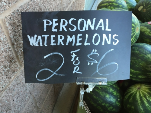 Photograph: Bin with Personal Watermelons