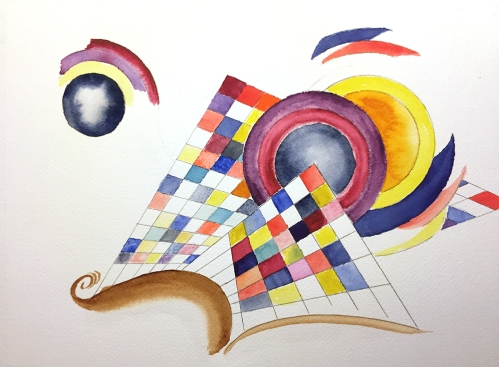 Watercolor: Abstract - After Kandinsky