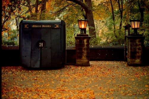 Photograph: Albion Book Kiosk at Central Park