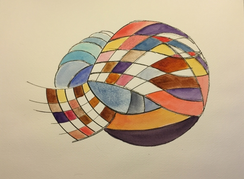 Watercolor: Abstract - Curvilinear Grids