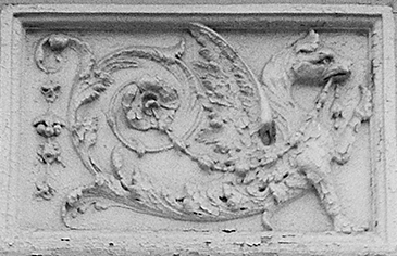 Photograph: Detail of Dragon Frieze