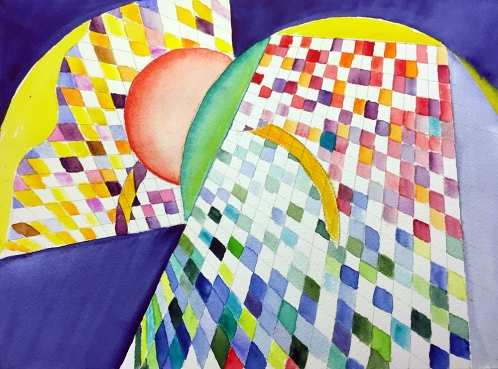 Watercolor: Abstract - Planes, Grids and Curves