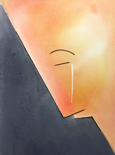 Watercolor: Line Drawing of an Emotion
