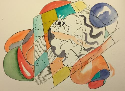 Watercolor: Portraits and Brain Slice
