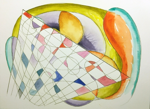 Watercolor: Abstract - Planes and Curves