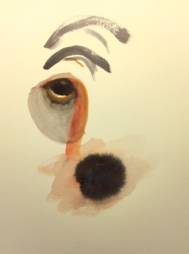 Watercolor: Abstract Face Portrait