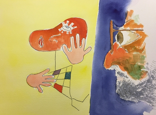 Watercolor: Abstract Figures